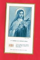 Image Pieuse ... Ste Thérèse De L'enfant Jésus étoffe Ayant Touché Aux Reliques La Sainte - Devotieprenten