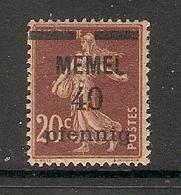 006713 Germany Memel 1920 40pf MH - Klaipeda