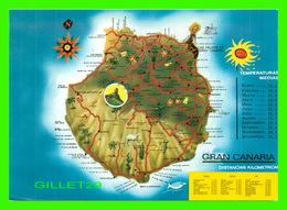 MAP, CARTES GÉOGRAPHIQUES - GRAND CANARIA, SPAIN - - Cartes Géographiques