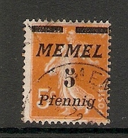 006715 Germany Memel 1922 5pf FU - Klaipeda