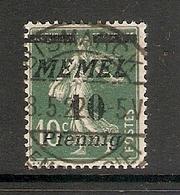 006716 Germany Memel 1922 10pf FU - Klaipeda