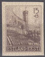 ESTONIA - Occupazione Tedesca - 1941 - Yvert 4 NON Dentellato, Nuovo Senza Gomma. - Estonie