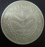 Palestine 50 Mils Silver - Egipto