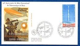 Enveloppe Premier Jour / 70 Me Anniversaire Salon Aéronautique  / Paris - Le Bourget / 9 Juin 1979 - FDC