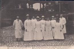 Kontich Contich 1908 Schrikkelijk Spoorweg Ongeluk Groep Ziekenverpleegsters Elisa Eyckmans - Kontich