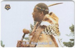LESOTHO A-004 Chip LTC - Ruler, King Letsie III. - Used - Lesotho