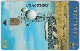 LESOTHO A-005 Chip LTC - Communication, Satellite Dish - Used - Lesotho