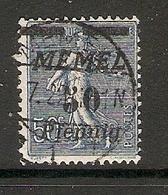 006718 Germany Memel 1922 50pf FU - Klaipeda