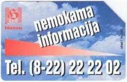 LITUHANIA A-379 Magnetic Telekomas - Used - Lithuania