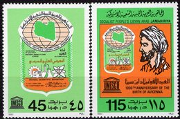 Schul-Ausstellung 1980 Libyen 849/0 ** 2€ Emblem Wissenschafts-Schau Arzt Avicenna Scool EXPO Technic Set Bf Libya - Libya