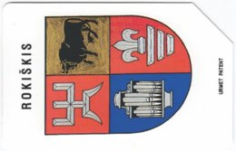 LITUHANIA A-396 Magnetic Telekomas - Crest - Used - Lithuania