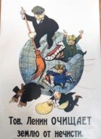 Conjunto De 22 Postales De Rusia Cartel Revolucionario De La Década De 1920 De La Propaganda Comunista Bolchevique De La - Historia