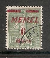 006720 Germany Memel 1922 6 Mark FU - Klaipeda