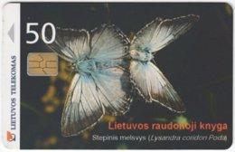 LITUHANIA A-450 Chip Telekomas - Animal, Butterfly - Used - Lithuania