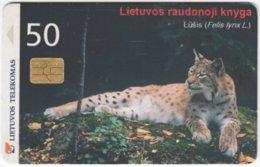 LITUHANIA A-456 Chip Telekomas - Animal, Cat, Lynx - Used - Lithuania