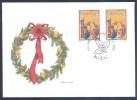 1999 Slovenia Slowenien Fdc Cover: Christmas; Art Paintings Baby Jesus Advent Wreath Adventskranz Corona - Cristianismo