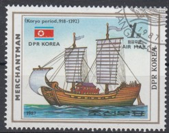 NORTH KOREA 1987. SCOTT 2632. SAILING SHIPS. MERCHANTMAN, KORYO PERIOD (918-1392) - Corea Del Nord