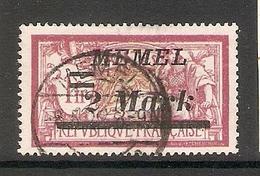006723 Germany Memel 1922 2 Mark FU - Klaipeda