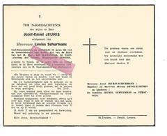 D 522. JOZEF-EMIEL JEURIS  - Oud-Burgemeester KOZEN / Weggevoerde 1914/1918 -  KOZEN 1892 / 1956 - Devotion Images