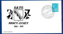 Enveloppe Premier Jour /  Base Aérienne 133  / Nancy  / 2 Mai 1971  / Tâchée Au Dos - FDC