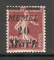 006725 Germany Memel 1922 20 Mark MH - Klaipeda
