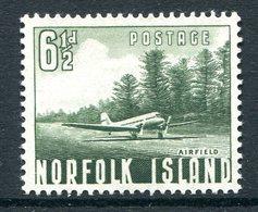 Norfolk Island 1953 Definitives - 6½d Airfield HM (SG 14) - Norfolk Island