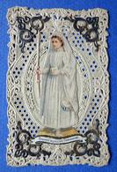 IMAGE PIEUSE  CANIVET...SOUVENIR DE PREMIÈRE COMMUNION.....COINS RELIEF ARGENTES - Devotion Images