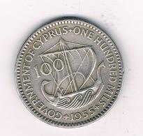 100 MILS 1955 CYPRUS /0401/ - Chypre