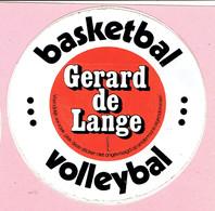 Sticker - Gerard De Lange - Basketbal - Volleybal - Autocollants