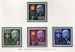 Malta - 1965 - Winston Churchill - 4 Valori - Nuovi - Vedi Foto - (FDC13775) - Malte