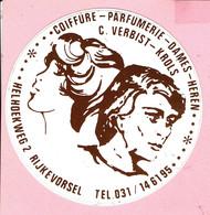 Sticker - Coiffure - Parfumerie - Dames - Heren - C. VERBIST-Krols - Helhoekweg 2 Rijkevorsel - Autocollants