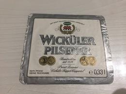 Ancienne Étiquette 1.1 BIÈRE ÉTRANGÈRE WICKÜLER PILSENER PRIVÂT BRAUEREI HAGEN WESTF - Beer