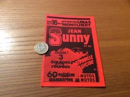 AUTOCOLLANT, Sticker «JEAN SUNNY - AUTOS MOTOS - LINAS MONTLHÉRY (91)» (cascadeur) - Autocollants