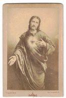 """Photo Pieuse Holy Card Santini Sur Support Cartonné Format CDV : """" Sacré Coeur De Jésus """" - Devotion Images"""