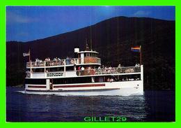 """BATEAUX, SHIP - """" HORIZON"""" SHORELINE CRUISES ON LAKE GEORGE, NY - ANIMATED - - Commerce"""