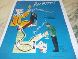 ANCIENNE PUBLICITE LIMONADE PSCHITT ORANGE OU CITRON 1955 - Affiches