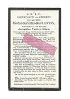 D 544. JACOBUS N. D. JUVYNS - Ontvanger Burg.Gasthuizen / Prefect Congr. Derde-Orde En H.Familie- ST-TRUIDEN 1835 / 1906 - Devotion Images