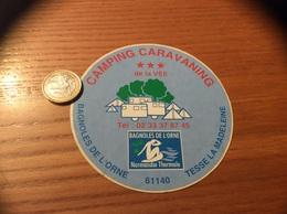 AUTOCOLLANT, Sticker «CAMPING CARAVANING - BAGNOLES DE L'ORME, TESSE LA MADELEINE (61)» - Autocollants