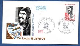Enveloppe Premier Jour / Louis Blériot / Cambrai  / 1-7-72 - FDC