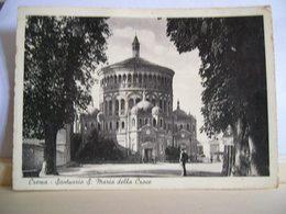 1943  - Cremona - Crema - Santuario S. Maria Della Croce - Chiesa Animata - Pubblicità Gomme Pirelli - Cartolina D'Epoca - Churches & Convents