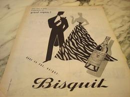 ANCIENNE AFFICHE PUBLICITE COGNAC   BISQUIT 1955 - Publicités
