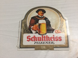 Ancienne Étiquette 1.1 BIÈRE ÉTRANGÈRE ABFÜLLUNG SCHULTHEISS PILSENER BERLIN - Beer