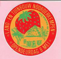 Sticker - LAND- EN TUINBOUW NOORDERKEMPEN - Opendeurdag 8 Mei - Wij Waren Er Bij - Aardbei - Autocollants