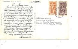 Inde Française ( CP De 1954 De Pondichéry Vers La France à Voir) - India (1892-1954)