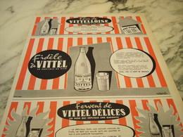 ANCIENNE PUBLICITE FIDELE A L EAU VITTEL 1955 - Publicités