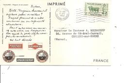 Falklands ( CP De 1952 De PortStanley Vers La France à Voir) - Falkland Islands