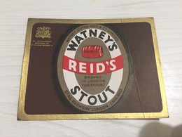 Ancienne Étiquette 1.1 BIÈRE ÉTRANGÈRE WATNEY'S REID'S STOUT BREWED IN LONDON ENGLAND - Beer