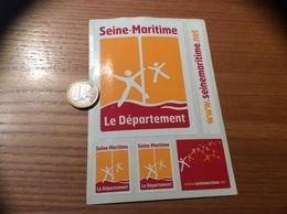 AUTOCOLLANT, Sticker «Seine-Maritime (76)» (6 Pièces) - Autocollants