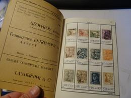 ESPAGNE  Dans Carnet D échange Avec Publicité Ville D ANNECY - Briefmarken