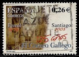 2003-ED. 4011- SERIE COMPLETA-125 ANIVER. DE  '' EL CORREO GALLEGO '' DE SANTIAGO DE COMPOSTELA-USADO - 1931-Today: 2nd Rep - ... Juan Carlos I